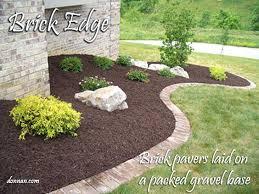 Landscaping Edging Ideas Stone Lawn Edging Ideas Stunning Garden Bed Edging Ideas That You