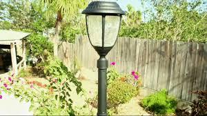 gama sonic 6 u0027 candela crackle glass solar lamp post on qvc youtube
