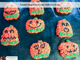 Rice Crispy Treat Pumpkins Pumpkin Shaped Rice Krispies Halloween Recipe Experimental