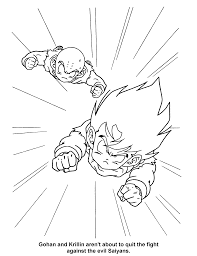 coloring page dragon ball z coloring pages 2