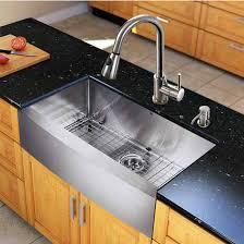 Vigo Kitchen Sink All In One 33 Bedford Stainless Steel Farmhouse Kitchen Sink Set