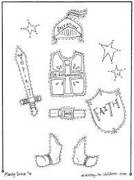 the armor of god coloring pages eson me