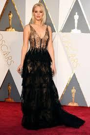 oscar dress in style of jennifer lawrence black goddiva fashion 1