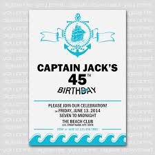 Design Invitation Card For Birthday Party Anchor U0026 Boat Nautical Birthday Party Invitation Card Party