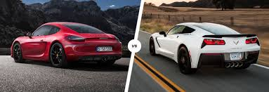 corvette stingray porsche cayman gts u0026 corvette stingray go head to head carwow