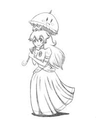 princess peach and perry by 1upyoshi on deviantart