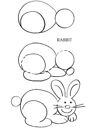 coloring luxury rabbit drawing easy step easter