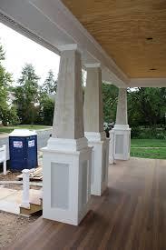 interior divine image of front porch column decoration using