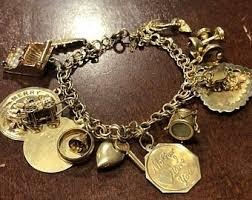 charm bracelet gold vintage images 14k gold charm bracelet etsy jpg