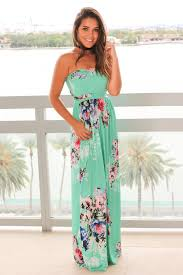 mint and pink floral strapless maxi dress maxi dresses u2013 saved