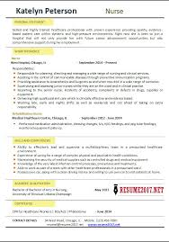 Nurses Resume Templates Examples Of Nurse Resumes Registered Nurse Resume Examples