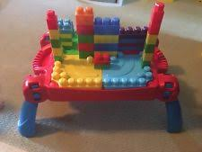 mega bloks first builders table mega bloks first builders build n learn table plus bonus play set