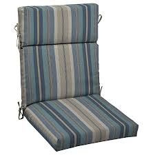 Lowes Allen And Roth Patio Furniture - shop allen roth stripe standard patio chair cushion at lowes com