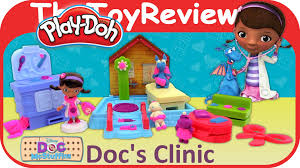 play doh doc u0027s clinic featuring disney doc mcstuffins unboxing toy