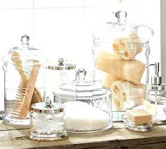 bathroom apothecary jar ideas wonderful apothecary jars bathroom set hroom set glass bathroom