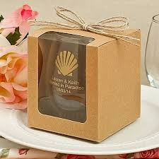 personalized wedding favor boxes 9 oz custom printed stemless wine glass wedding favors