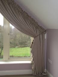 How To Measure Windows For Curtains by Dormer Window With Show Curtains And Matching Roman Blind Window