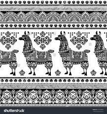 vector cute alpaca llama animal ethnic stock vector 397238983