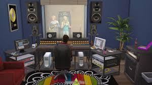 music studio around the sims 4 custom content download recording studio