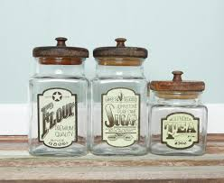 vintage glass canisters kitchen farmhouse kitchen storage glass flour tea coffee canister jar set