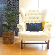 How Much Upholstery Fabric Do I Need For A Couch How To Paint Upholstery Old Fabric Chair Gets Beautiful New Life