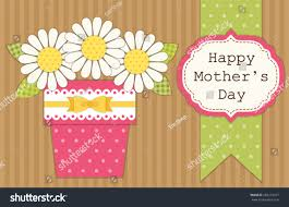 cute retro card mothers day flowers stock vector 265215077