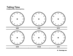 printable clock to learn to tell time freeology