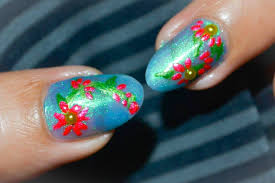 tropical flower nail design pink floral nails love for nail polish