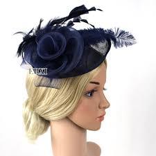 hair fascinators handmade fashion feather sinamay fascinator hair headband for