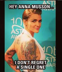 ruby rose does ladylike glamour by covering up tattoos while out
