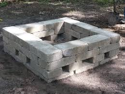 Brick Fire Pits by This Is Our 34x34 Square Fire Pit Materials Needed 34 7x14