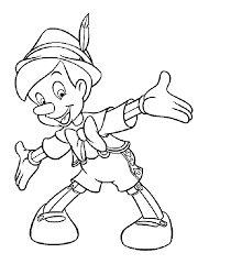 happy pinocchio coloring free printable coloring pages