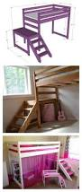 Ana White Build A Camp Loft Bed With Stair Junior Height Free by Diy Camp Loft Bed With Stair Lofts Room And Bedrooms