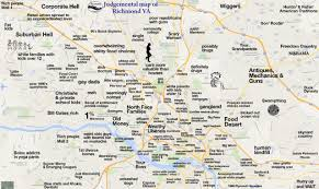 Judgmental Map Of Austin by Map Of Richmond My Blog