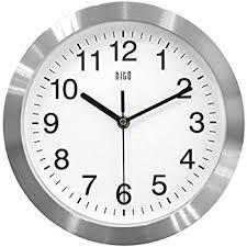 silent wall clocks amazon com hito silent non ticking wall clock aluminum frame glass