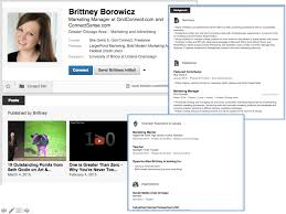 volunteer examples for resumes 10 examples of highly impactful linkedin profiles brittney borowicz