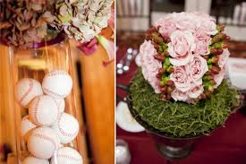 baseball themed wedding themed wedding centerpiece