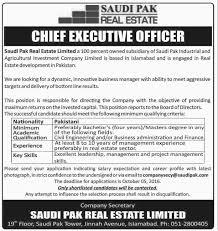 jobs in saudi pak real estate pakistan islamabad jobs vacancy in