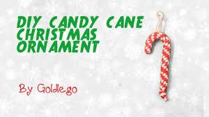 diy candy cane christmas ornament 4 steps