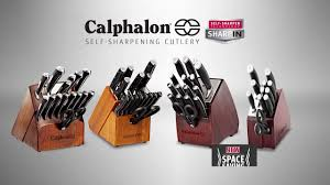 Calphalon Kitchen Knives Calphalon Self Sharpening Cutlery Youtube