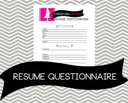 Resume Questionnaire Template 28 Resume Questionnaire Resume Questionnaire Template Best
