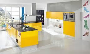 cuisine moderne jaune design interieur inspiration cuisine moderne jaune canari déco