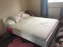 ikea malm double askvoll with hovac ikea spring mattress white
