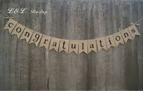 congratulations bridal shower congratulations burlap bunting wedding bunting wedding banner