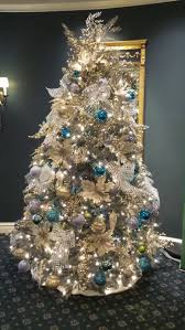 turquoise christmas tree christmas lights decoration