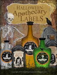 party planning center free printable halloween apothecary labels