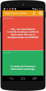 Resume Maker Pro 17 Super Resume Builder Pro Cv Android Apps On Google Play