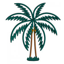 tree applique tropical machine embroidery design digitized pattern