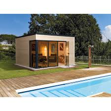 design gartenhaus weka design holz gartenhaus cubilis a 380 cm x 300 cm natur kaufen