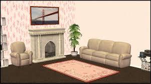 mod the sims five floral wallpaper sets
